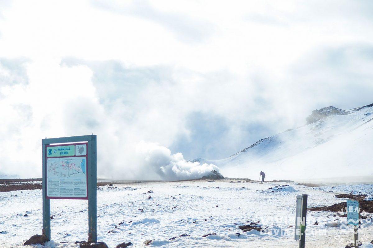 Fumarolas por el norte de Islandia