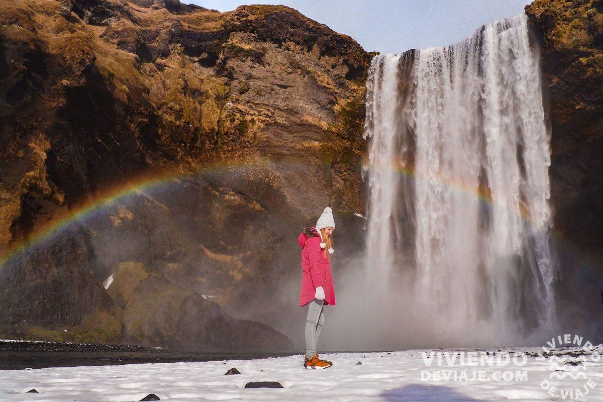 Cascada Skogafoss, Islandia en 10 días