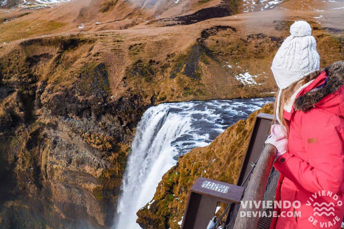 Cascada Skogafoss desde el mirador