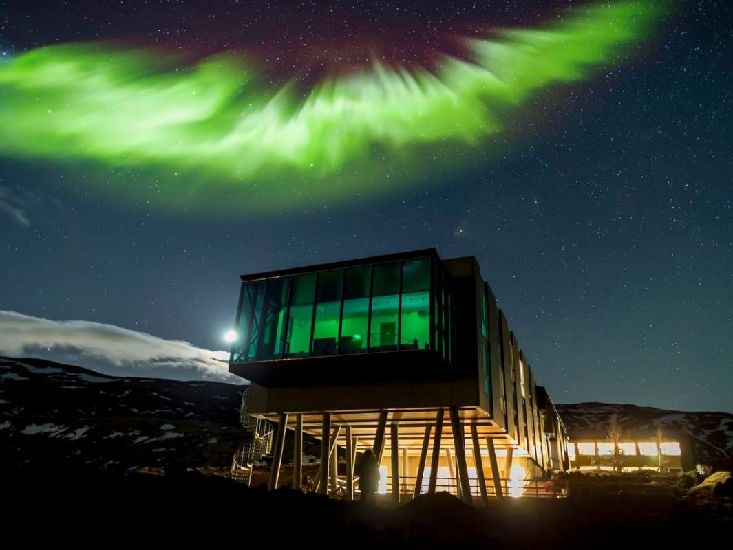 Mejores hoteles para ver las luces del norte en Islandia