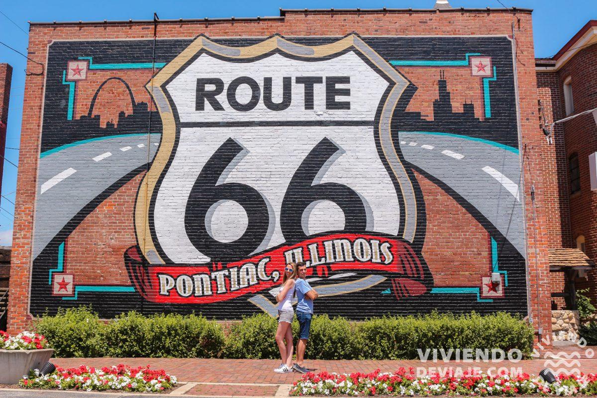 Recorrido Ruta 66 y mapa