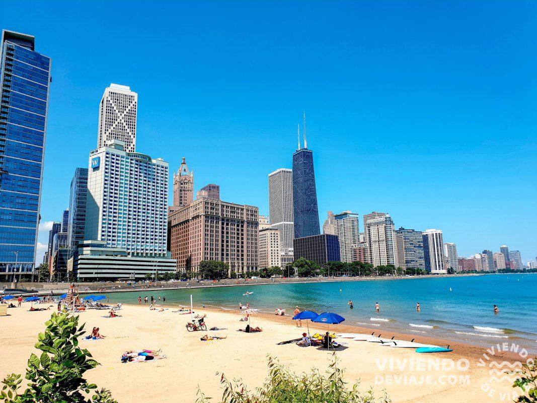 Qué visitar en Chicago, la playa del lago Michigan