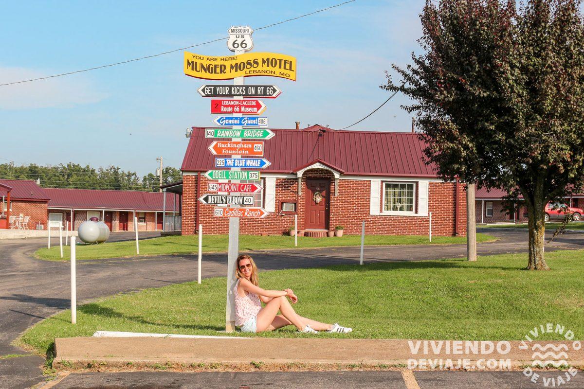 Motel Munger Moss en la Ruta 66