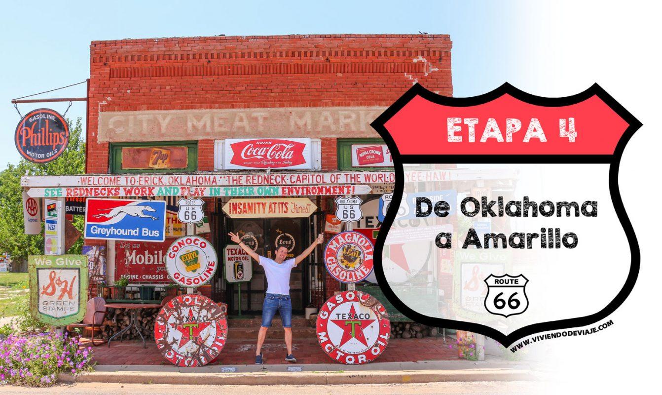 Ruta 66 etapa 4, de Oklahoma a Amarillo
