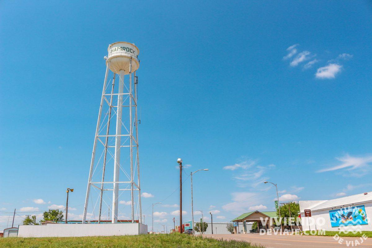 Torre de agua de Shamrock | Ruta 66