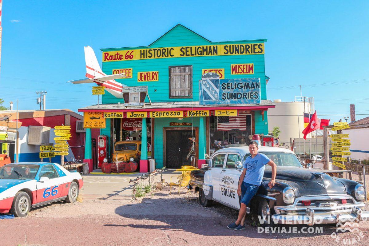 Historic Seligman Sundries, parada imprescindible de la Ruta 66