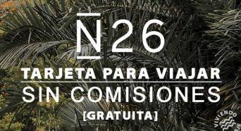 N26 Tarjeta para viajar sin comisiones - gratuita
