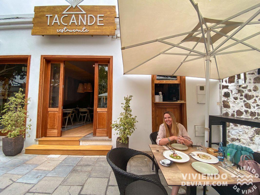 Restaurante Tacande en Haría, Lanzarote