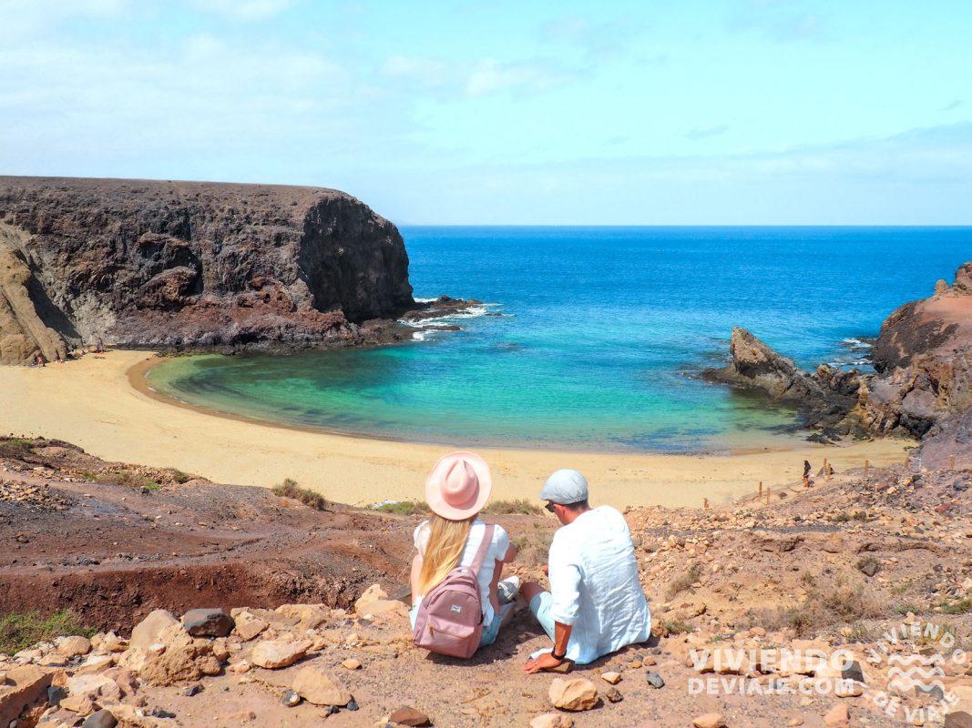 Playa del Papagayo, una de las mejores playas que ver en Lanzarote