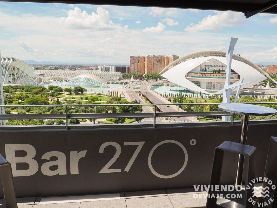 Terraza 270º del Hotel Barceló Valencia, un mirador alucinante